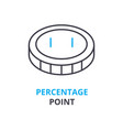 percentage point concept outline icon linear vector image vector image