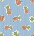 Pineapple pattern Seamless texture with ripe red vector image