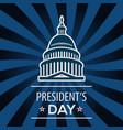 presidents day usa greeting card vector image vector image