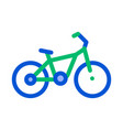 public transport bicycle thin line icon vector image