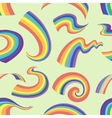 Rainbows pattern in different shape vector image vector image
