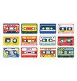 retro cassette heavy metal jazz or hip-hop music vector image