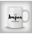 Romantic card poster mug t-shirt print Hello vector image vector image