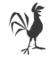 rooster cartoon silhouette icon vector image vector image