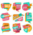 sale banners set promotional discoun signs vector image