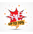Sale discount design with fireworks vector image vector image