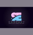 se alphabet letter join joined letter logo design vector image vector image