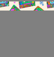 seamless pattern with colorful cassettes hippie vector image