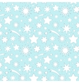 Seamless pattern with decorative stars vector image