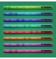 set 8 navigation bars for website vector image vector image