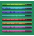 Set of 8 navigation bars for website vector image vector image
