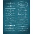 Set of doodle sketch decorative dividers vector image vector image