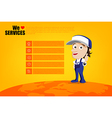 Smile and thumb up mechanic man cartoon for design vector image vector image