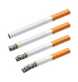 smoking a cigarette vector image vector image