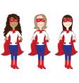 Super hero ladies vector image