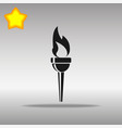 torch black icon button logo symbol vector image vector image
