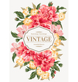 Vintage greeting card with colorful flowers vector image vector image