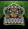 voodoo gunner esport mascot logo vector image vector image