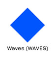 waves waves crypto coin ic vector image vector image