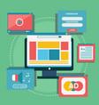 wbsite design content blogging concept vector image vector image
