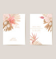 wedding watercolor orchid flowers invitation dry vector image vector image
