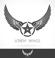 wing abstract logo template with star vector image