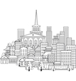 small town of a few streets vector image