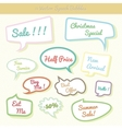 Collection of colorful speech bubbles Dialog Set vector image