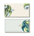 Floral hand drawing business cards set vector image