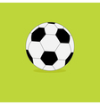 Football soccer ball icon on green grass back vector image