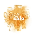 Vintage Fall sale vector image