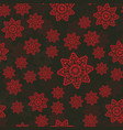 red pattern with mandala vintage decorative vector image