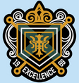 scroll emblem badge vector image