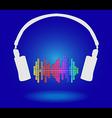 White headphones vector image
