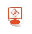 3D movie monitor sticker orange vector image vector image