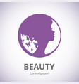 abstract logo for beauty salon stylized profile vector image vector image