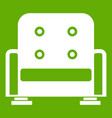 armchair icon green vector image vector image