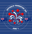 australia foundation day label on blue vect vector image
