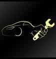 auto repair symbol golden vector image vector image