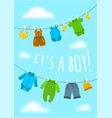 baby shower party cute invitation card vector image vector image
