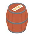 barrel icon isometric style vector image vector image