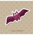 Bat icon Halloween sticker vector image vector image