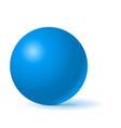 blue sphere 3d geometric shape