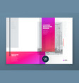 brochure design red corporate business rectangle vector image vector image