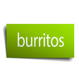 burritos green paper sign on white background vector image vector image