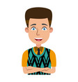 businessman profile male portrait man character vector image vector image