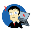 businness man in trouble vector image vector image