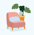 chair icon for your design vector image