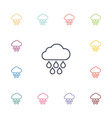 cloud rain flat icons set vector image vector image