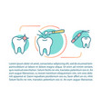 cosmetic dentistry article page template vector image vector image